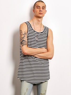 Ericdress Loose Stripe Sleeveless Locomotive Men's Vest