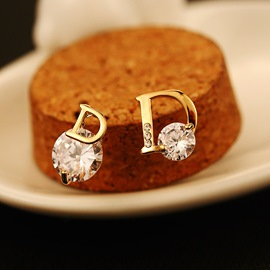 Ericdress White Round Sapphire Allergy-Free Stud Earring