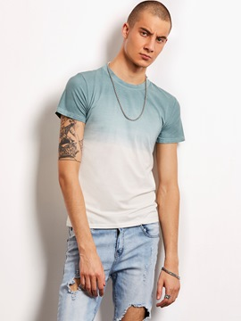 Ericdress Short Sleeve Gradient Print Locomotive Men's T-Shirt