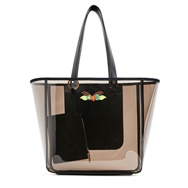 Ericdress Versatile Barrel-Shaped Transparent Tote
