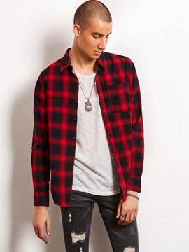 Ericdress Plaid Loose Quality Casual Locomotive Men's Shirt