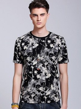 Ericdress Quality Short Sleeve Floral Men's T-Shirt