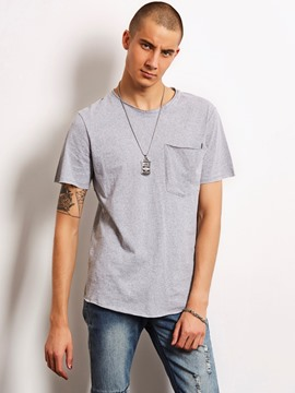 Ericdress Plain Loose Casual Locomotive Men's T-Shirt