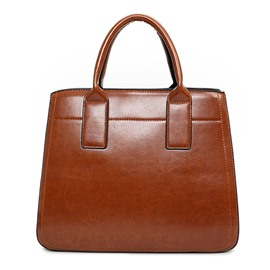 Ericdress Retro Pure Color PU Tote Bag