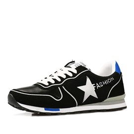 Ericdress Geometric Lace-Up Men's Athletic Shoes