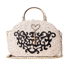 Ericdress Shell Shape Sequins Pattern Crossbody Bag