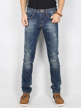 Ericdress Straight Denim Slim Men's Jeans