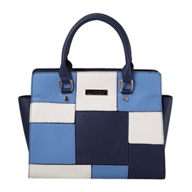 Ericdress Trendy Color Block PU Leather Handbag