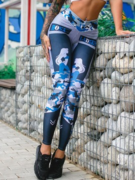 Ericdress Print Camouflage Leggings Pants