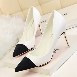 Ericdress Ladies' Color Block Point Toe Pumps