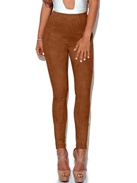 Ericdress Plain High Waisted Tight Women's Pants
