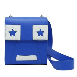 Ericdress Novelty Color Block PU Crossbody Bag