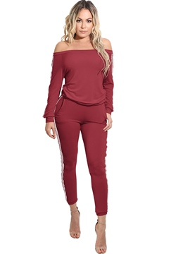 Ericdress Slash Neck Long Sleeves Leisure Suits