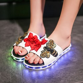 Ericdress Hot Selling LED Flower$bee Decorated Mules Shoes