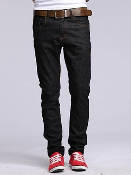 Ericdress Denim Mid-Length Vogue Slim Men's Pants