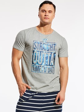 Ericdress Letter Print Casual Loose Plus Size Men's T-Shirt