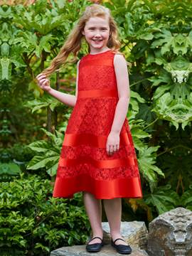 Ericdress Jewel A Line Lace Tea Length Flower Girl Dress