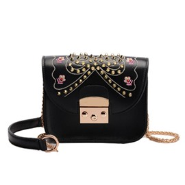 Ericdress Personalized Embroidery Rivet Crossbody Bag