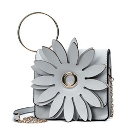 Ericdress Distinctive Flower Pattern Design Chain Crossbody Bag