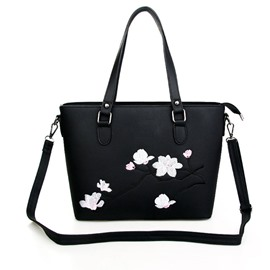 Ericdress Classic Embroidery Big Capacity Shoulder Bag