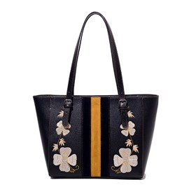 Ericdress Fashion Flower Embroidery Tote Bag