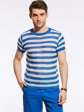 Ericdress Short Sleeve Stripe Vogue Men's T-Shirt