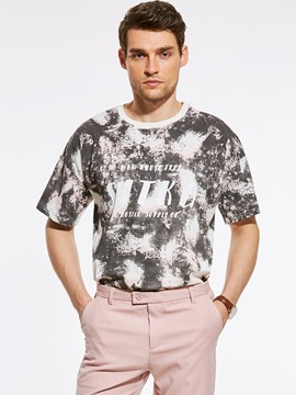 Ericdress Short Sleeve Print Vogue Men's T-Shirt