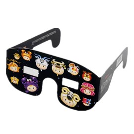 Ericdress Solar Eclipse Viewing Glasses Plastic Frame Glass