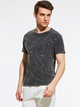 Ericdress Paint Polka Dots Casual Men's T-Shirt