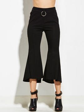 Ericdress Plain Bellbottoms Pants