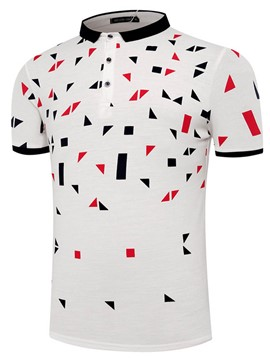 Ericdress Casual Print Short Sleeve Men's Polo T-Shirt