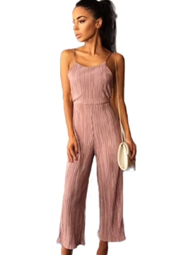 Ericdress Backless Lace-Up Jumpsuits Pants