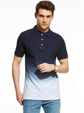 Ericdress Gradient Short Sleeve Polo Men's T-Shirt