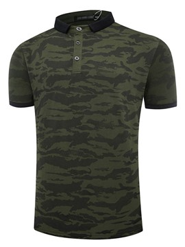 Ericdress Camouflage Short Sleeve Casual Polo Men's T-Shirt