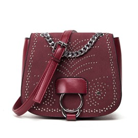 Ericdress Exquisite Rivet Design Crossbody Bag