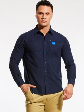 Ericdress Long Sleeve Loose Casual Plus Size Men's Shirt