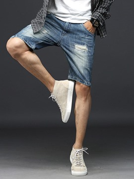 Ericdress Holes Vogue Casual Denim Men's Shorts