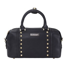 Ericdress Litchi Stria Rivets Adornment Handbag