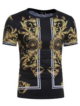 Ericdress Ethnic Style Short Sleeve Men's T-Shirt