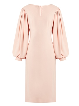 Ericdress Lantern Sleeve V-Neck Plain Bodycon Dress