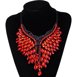 Ericdress Best Seller Ruby Inlay Pendant Necklace