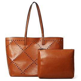 Eriicdress Concise Hollowed PU Women Handbag
