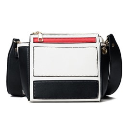 Ericdress Particular Color Block PU Crossbody Bag