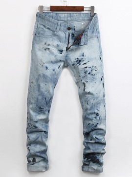 Ericdress pocket sequins gepatched Denim Casual Herren Jeans