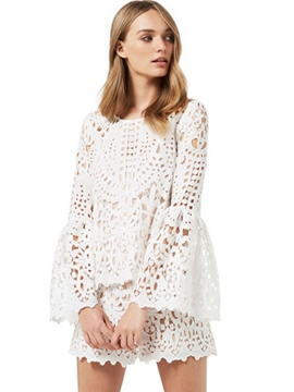 Ericdress Lace Bell Sleeve Hollow Women Suits