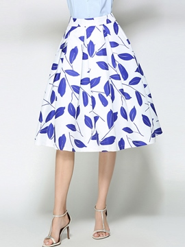 Ericdress Print Knee-Length Usual Skirts