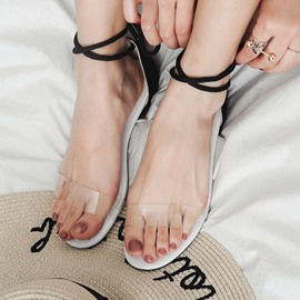 Ericdress Transparent Patchwork Flat Sandals