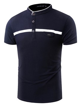 Ericdress Stand Collar Short Sleeve Quality Polo Men's T-Shirt