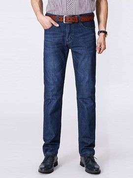 Ericdress Denim Straight Loose Casual Men's Pants