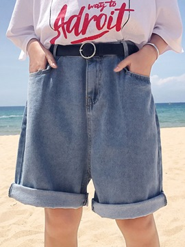 Ericdress High-Waist Plain Shorts Pants